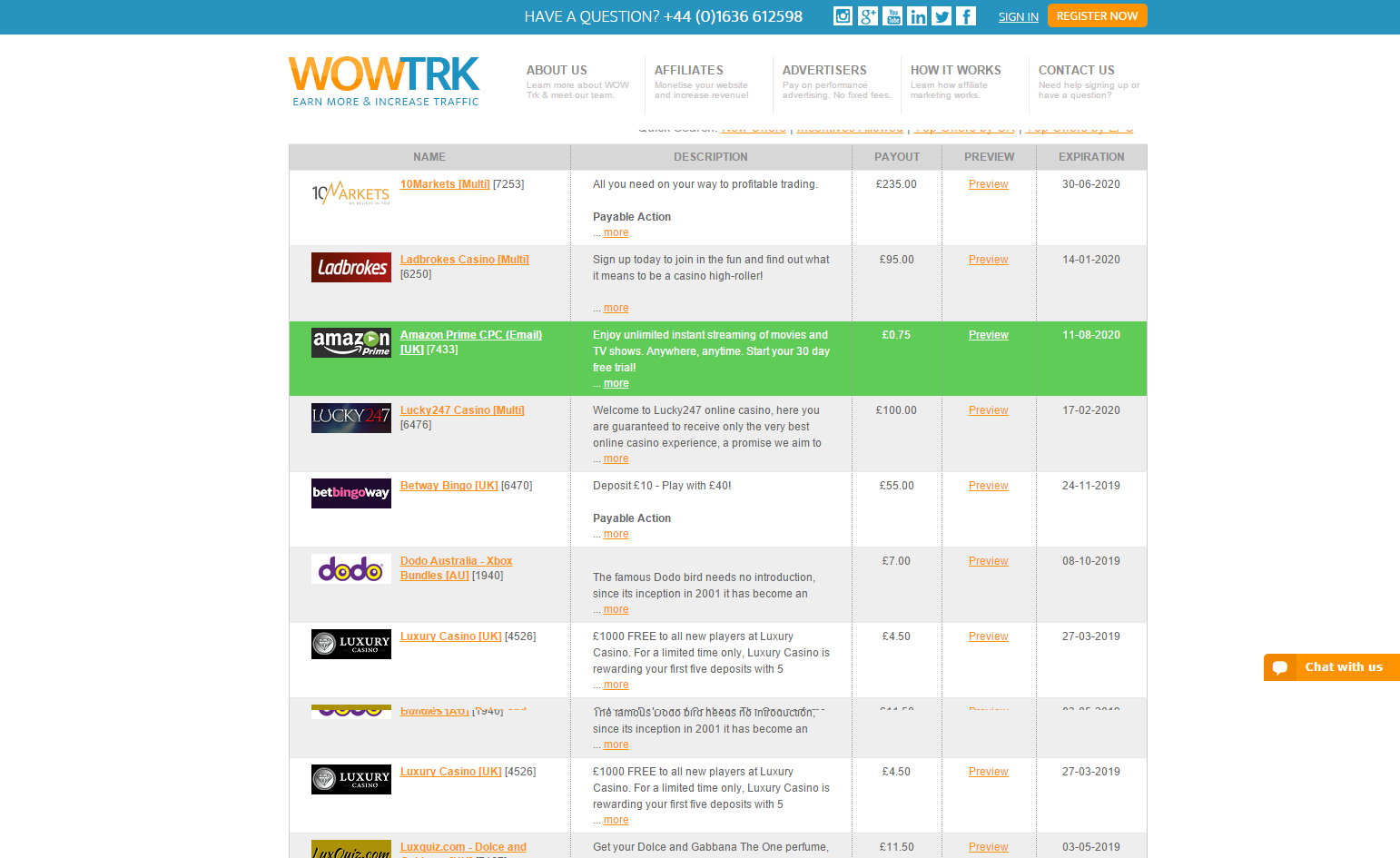 Large Screenshot of Exclusive Benefit