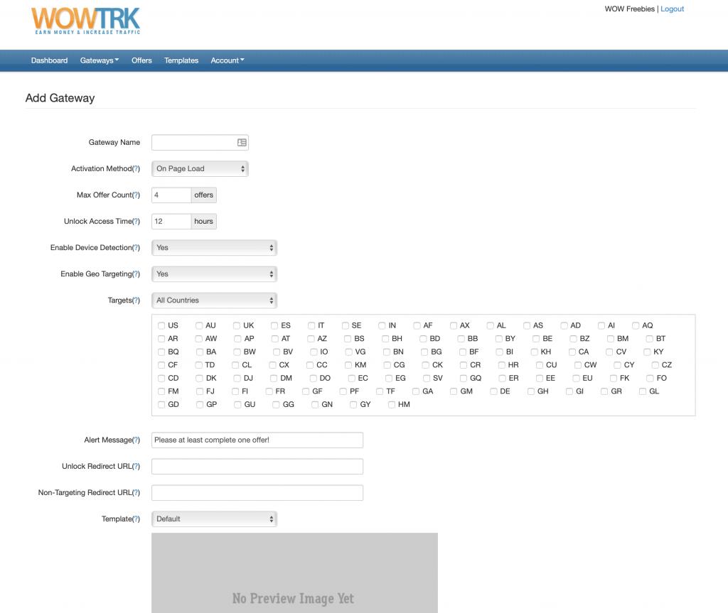 WOW TRK Content Locker Platform