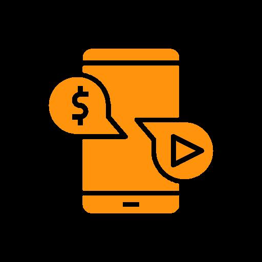 Mobile monetisation icon